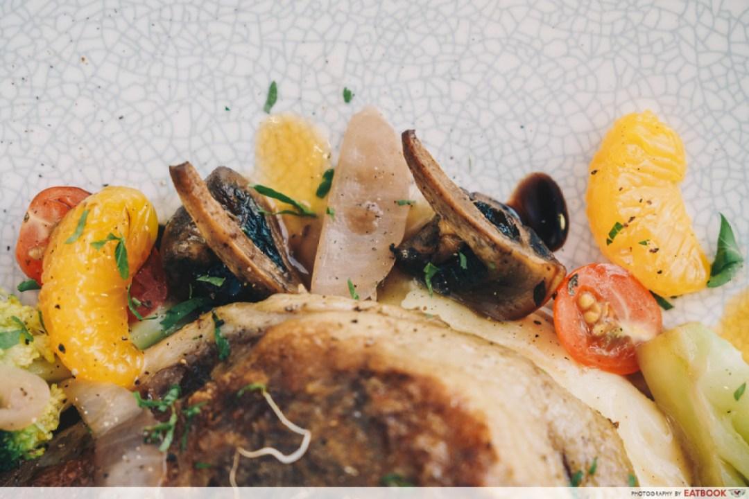 Hunger's Kitchen - garnish on duck confit