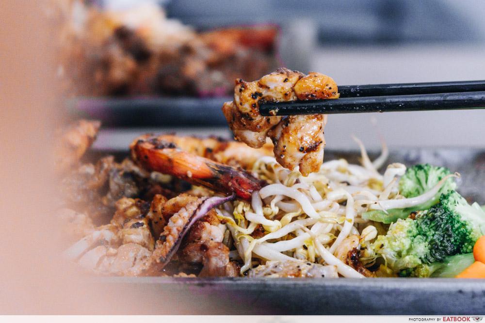 haven bistro teppanyaki combo 1 chicken