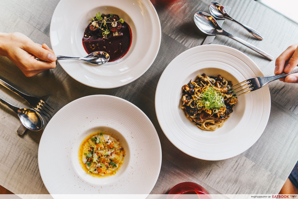 maybank michelin beautiful restaurants bam! restaurant flatlay