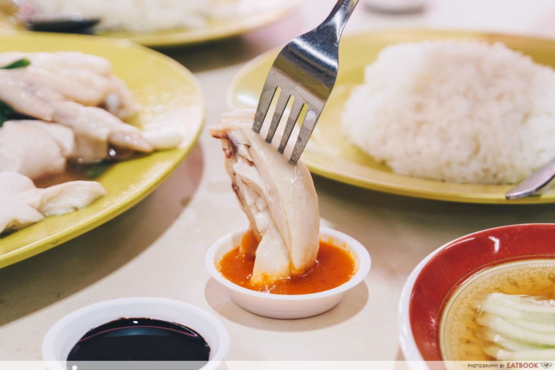 Hua Kee Chicken Rice - Steamed Chicken Dipping