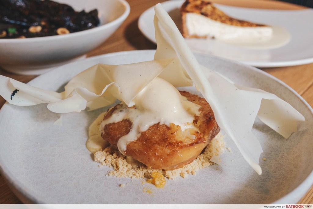 "Olivia Restaurant And Lounge Spanish ""Torrija"" with Ice Cream"