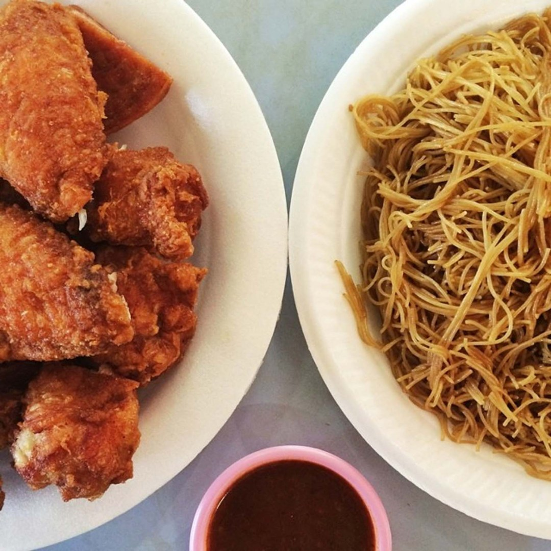 Redhill Food - Yan Fried Bee Hoon And Chicken Wings