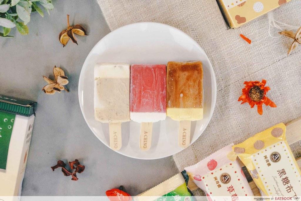 Bubble Tea Ice-Cream Flatlay