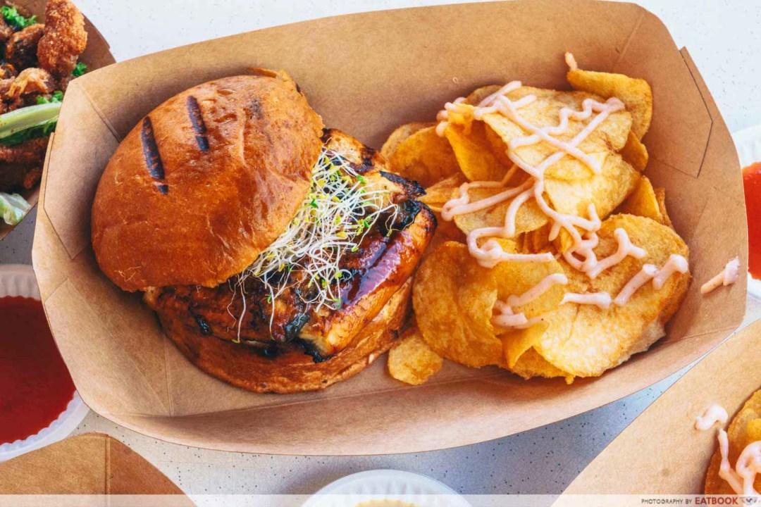 The Social Outcast - Unagi burger
