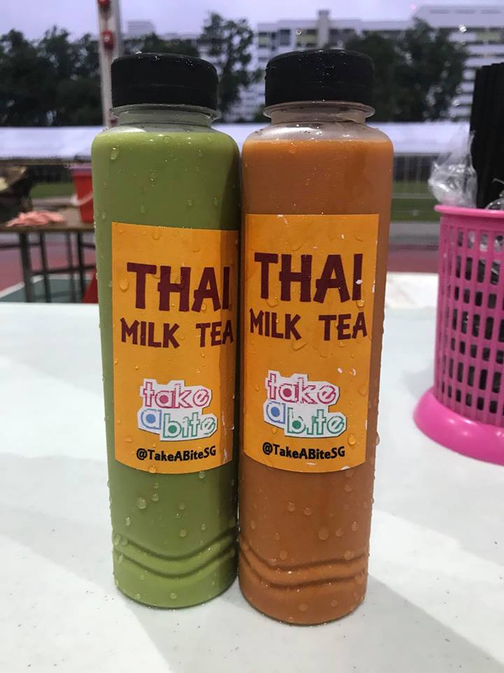 Red and Green Milk tea