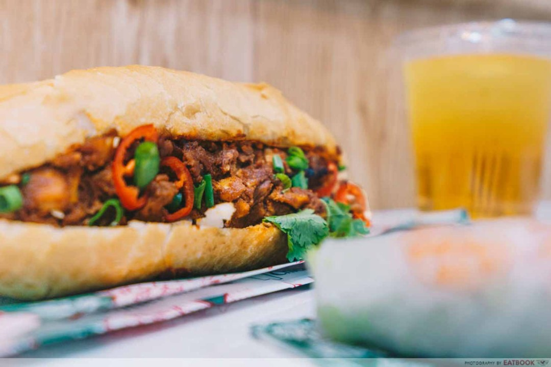 Banh You, Banh Mi - Butter chicken filling