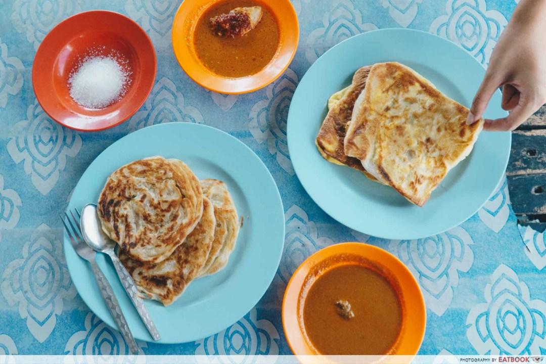 Johor Bahru Hawker Food - Roti Canai