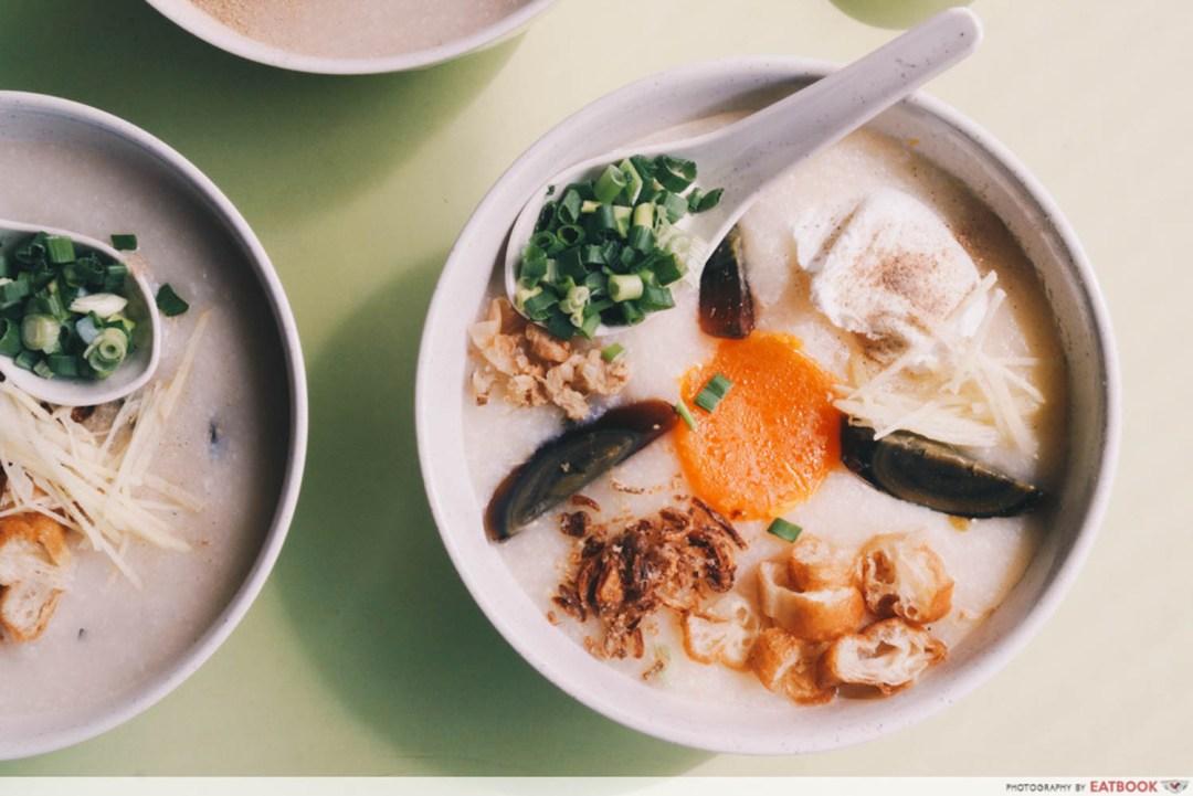 Weng Kiang Kee Porridge - Triple Egg Porridge