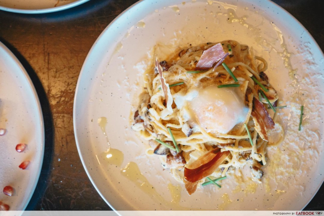 Elixir Boutique Roaster - Carbonara with Onsen Egg