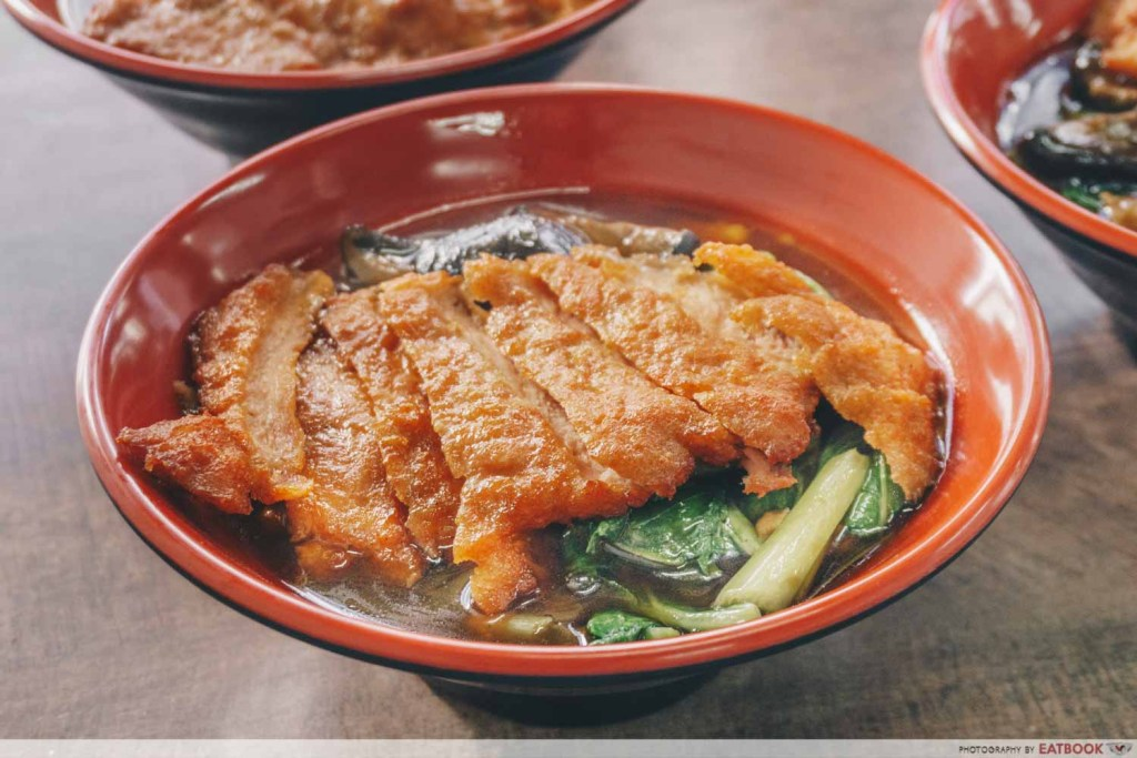 Q Hor Fun Pork Chop With Mushroom Hor Fun