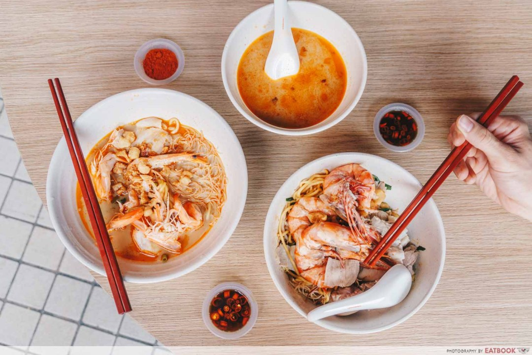 East Treasure Speciality Prawn Noodles - Flatlay