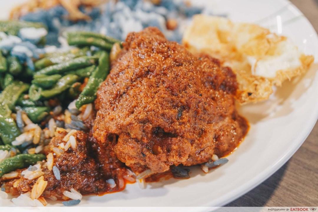 Emmanuel Peranakan Cuisine - Chicken rendang closeup