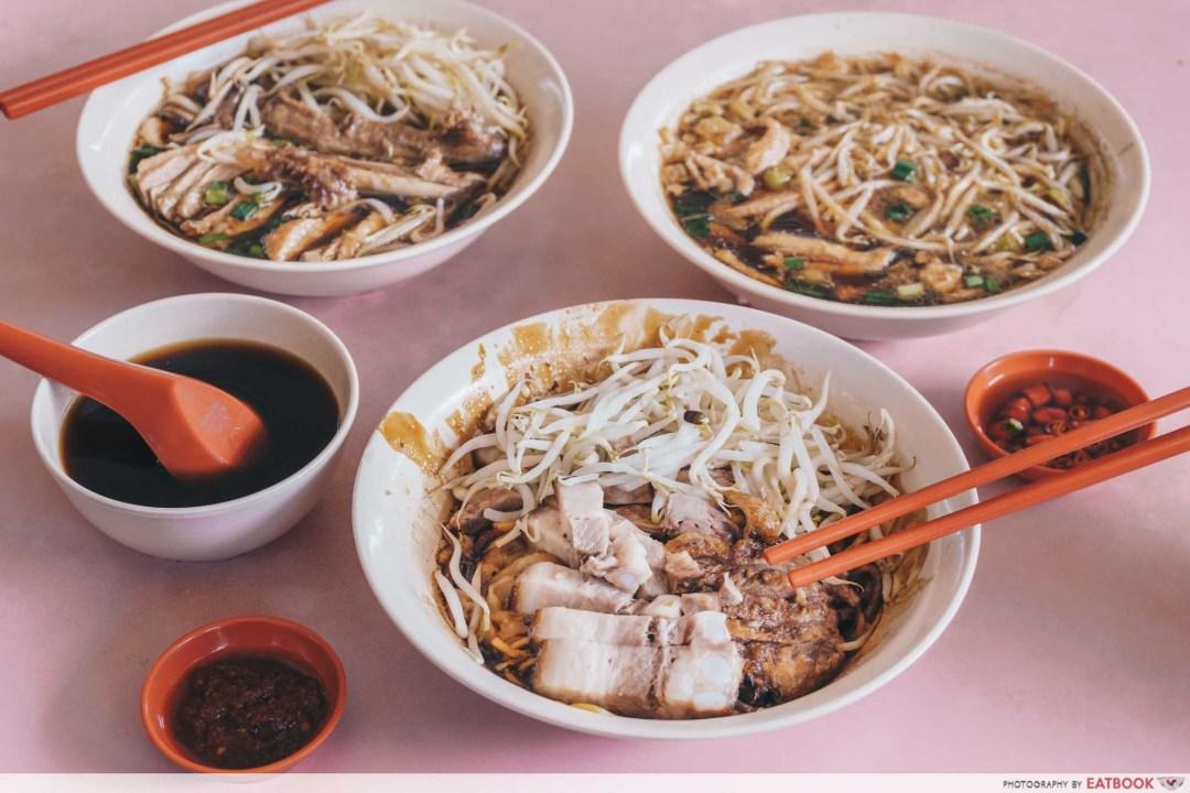 Heng Huat - Closeup shot of all noodles