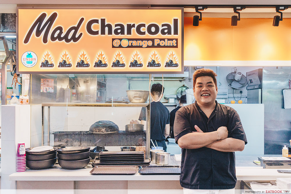Mad Charcoal-Storefront shot with owner