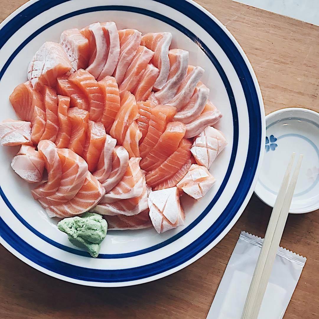 standing sushi bar - sashimi