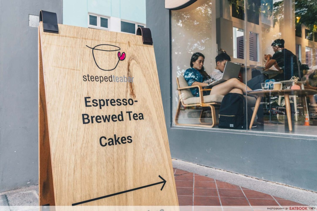 STEEPED Tea Bar - Espresso brewed tea sign