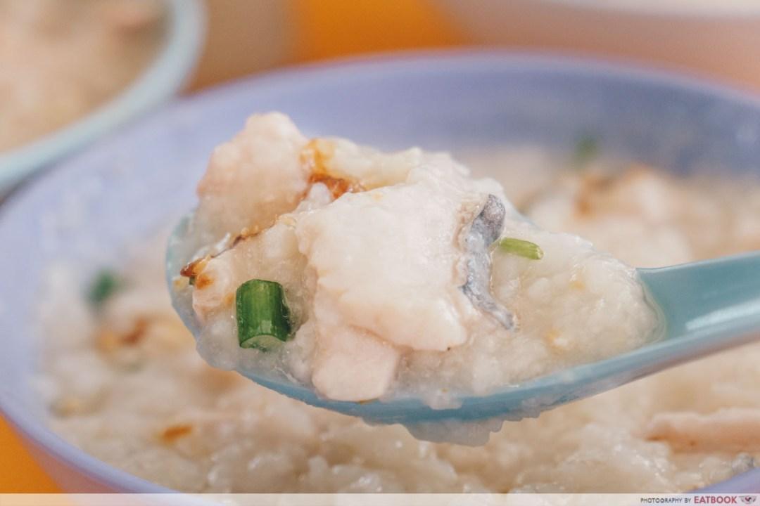 Soon Lee Porridge - Spoonful of fish and porridge