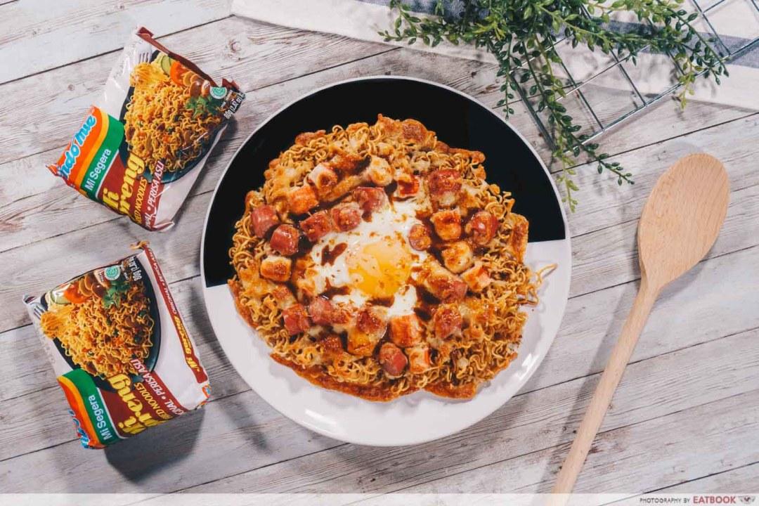 Instant Noodles Recipes - Indomie Pizza