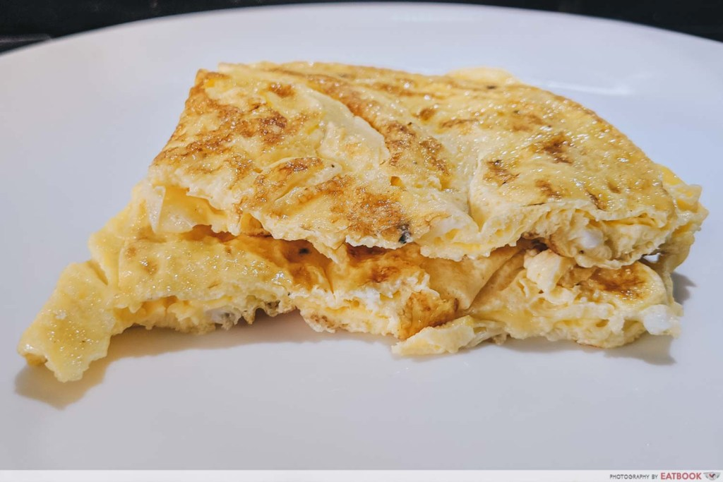 Easy Omelette Recipe cross section country style