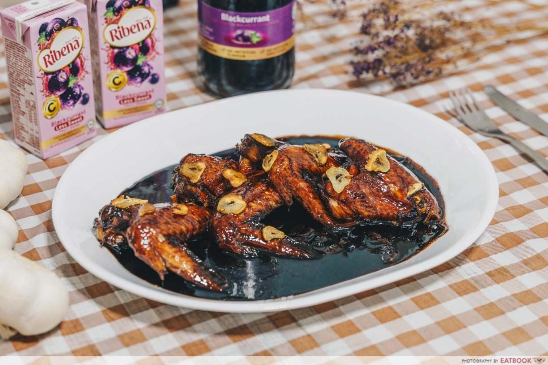 Ribena Recipes -berry chicken wings