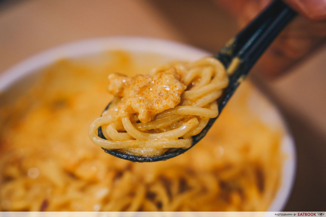 Inle Myanmar Restaurant - Spoonful of curry chicken noodles