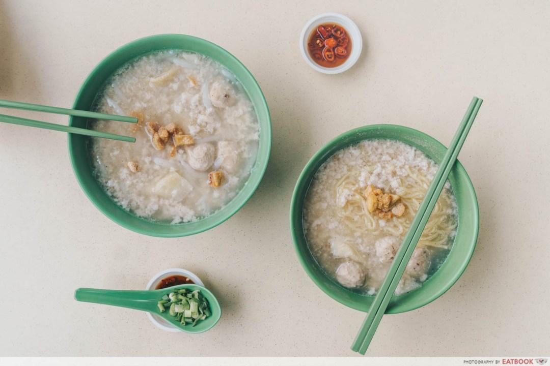 Soon Heng Pork Noodles - Flatlay
