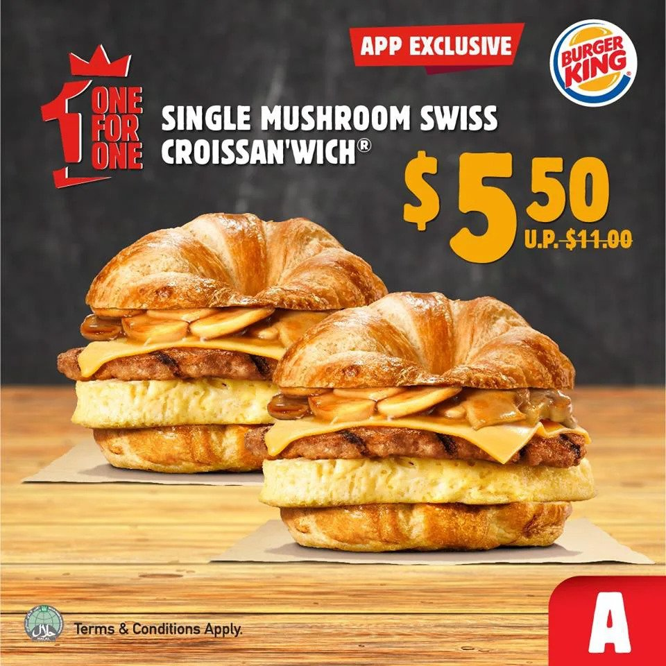burger king 1 for 1 2020