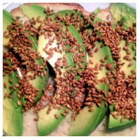 Breakfast: Avocado Toast w/ Toasted Flax Seeds