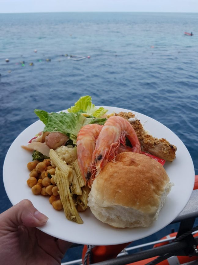 Lunch at the Great Barrier Reef