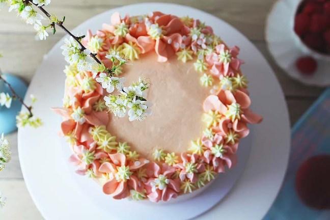 Peach Bellini Layer Cake