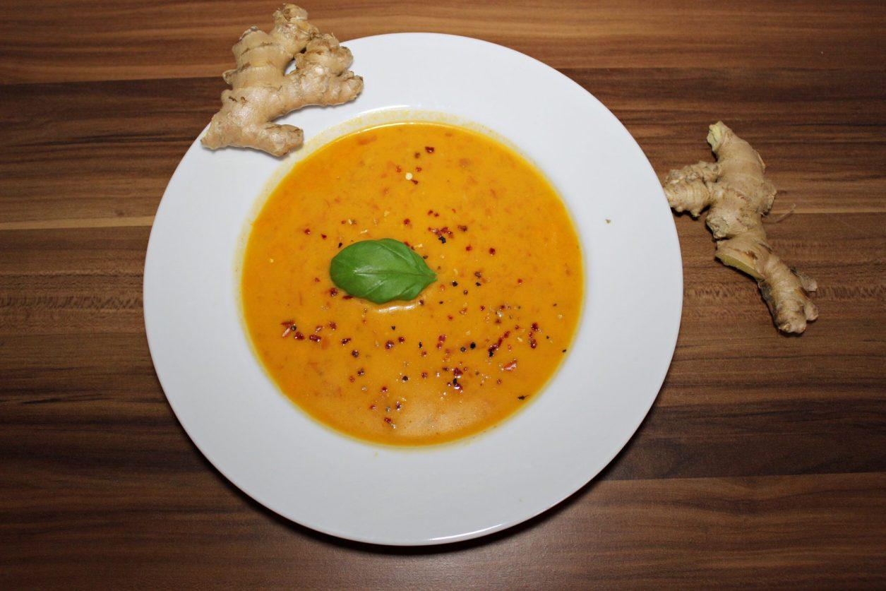 tomaten kokosmilch ingwer