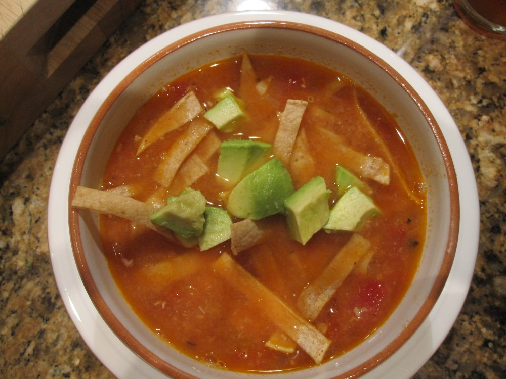 Tortilla Soup (with or without chicken)