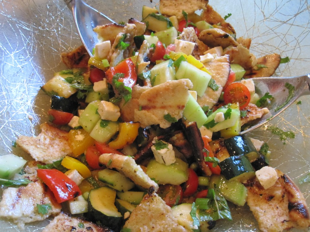 Grilled Zucchini and Bell Pepper Fattoush
