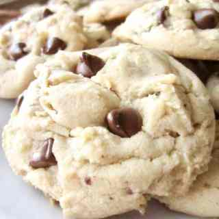Easy, classic chocolate chip pudding cookies that are perfect, fluffy, chewy, and quick! This no-fail recipe for cookies is still delicious days later.