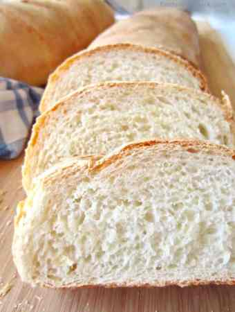 This recipe for Perfect Fluffy French Bread is my go-to bread recipe. It makes one loaf and is easily doubled to make for a crowd.