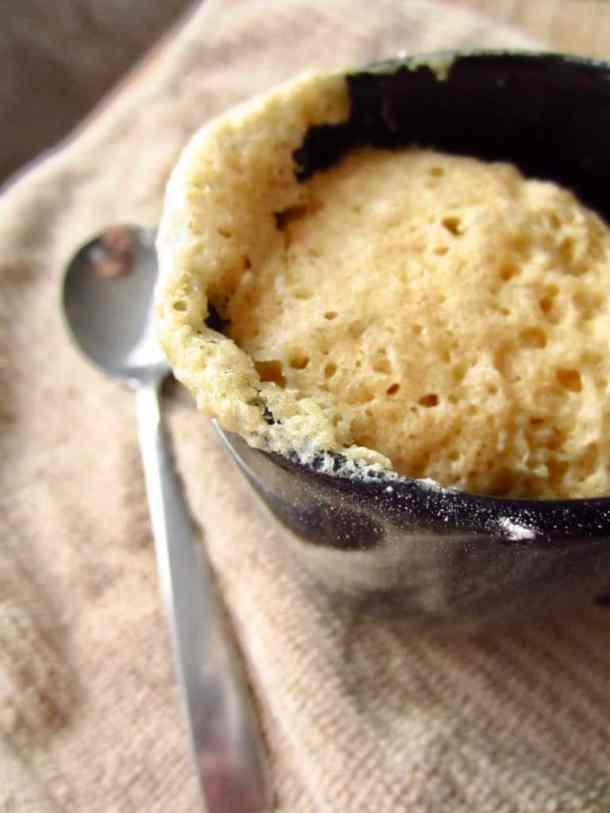 Eggnog Mug Cake - 6 ingredients. 2 minutes.