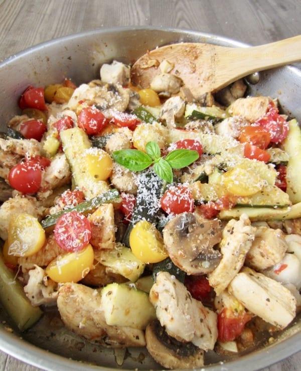 Italian Chicken Zucchini And Mushroom Skillet Eat Dessert Snack