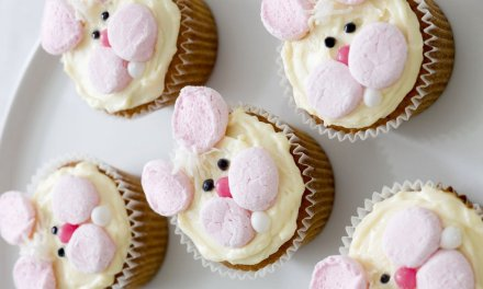 Make Honey Bunny cupcakes for a no chocolate Easter treat
