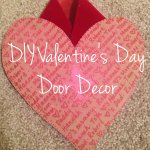 DIY Cereal Box Valentine's Door Decor