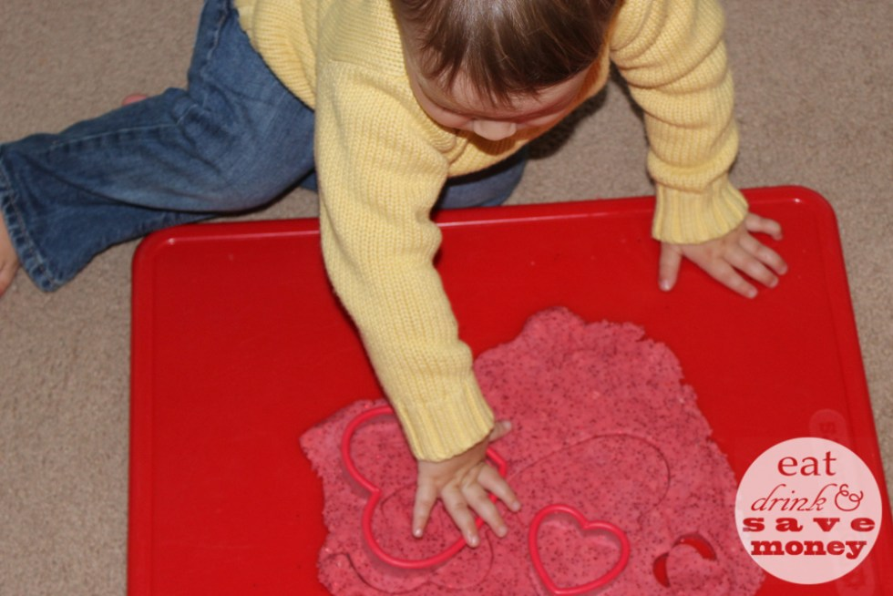 Valentines Day play dough recipe for toddlers