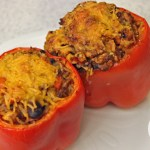 Stuffed peppers are the perfect solution for a vegetarian and a meat lover