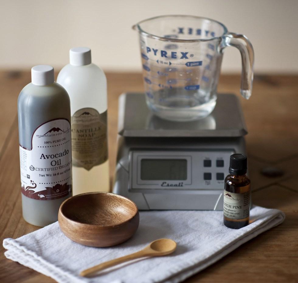 Solstice handcrafted facewash and body wash DIY recipe