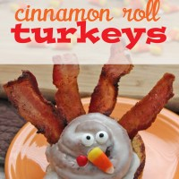 Cinnamon Roll Turkeys for Thanksgiving Breakfast