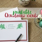 My cheap Christmas cards + free Christmas card printable
