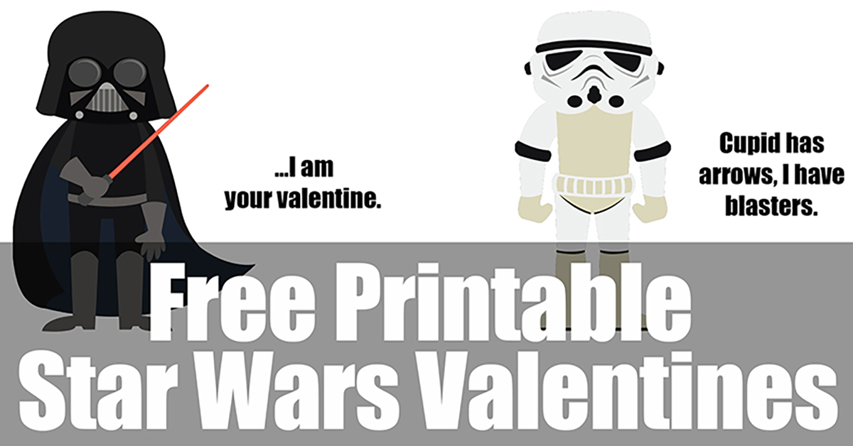 Printable Star Wars Valentines Eat Drink And Save Money