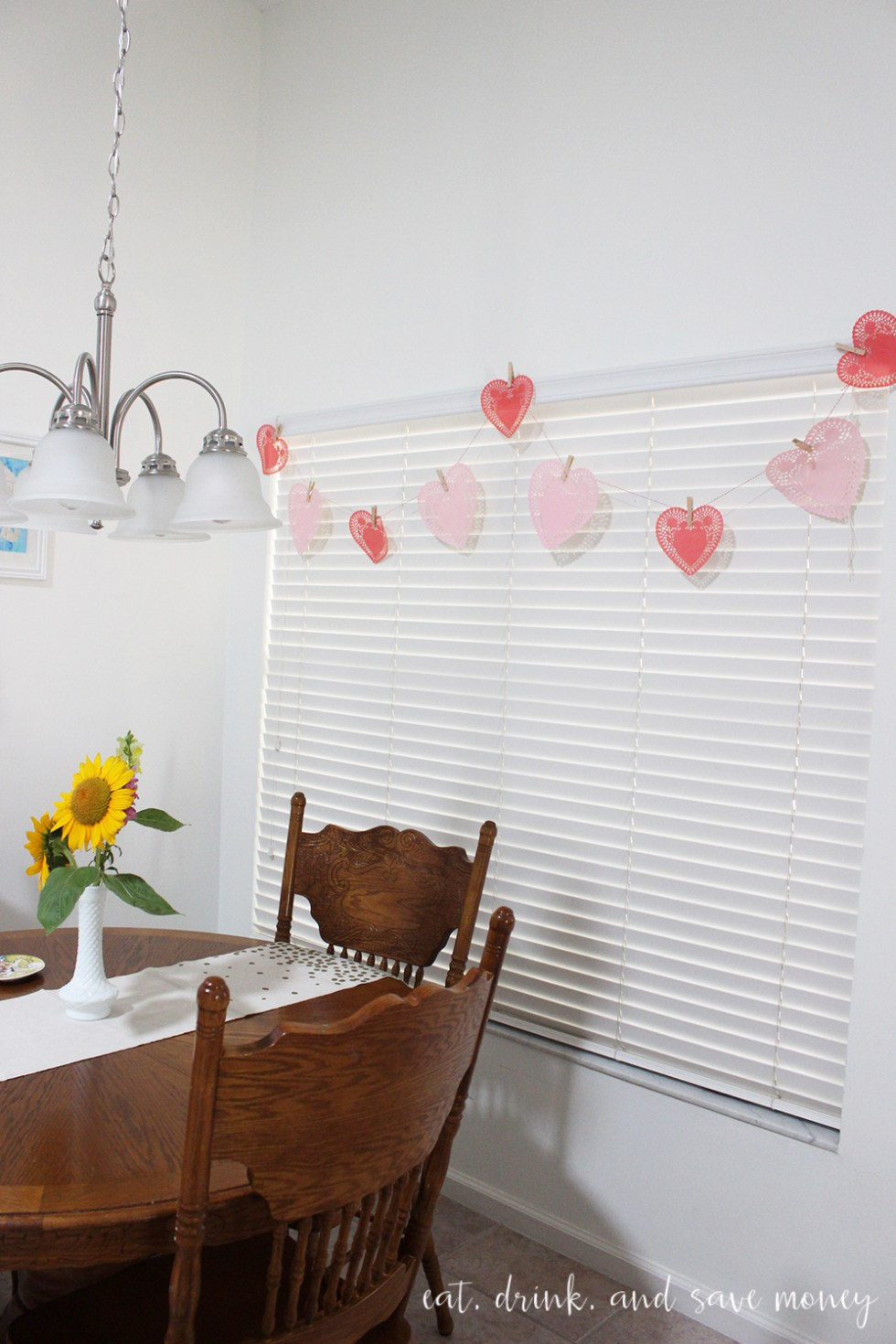 Valentine's Day Decor with doilies