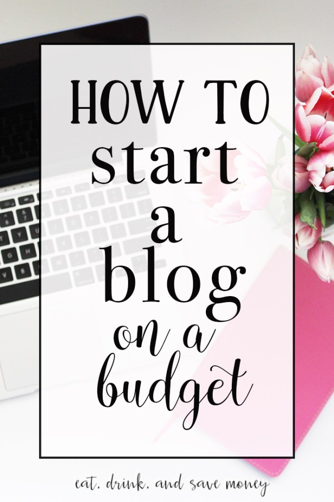 How to start a blog on a budget. You CAN start a blog without spending a lot of money. Check out how to start a blog on a budget!