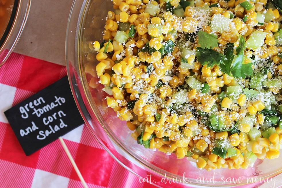 Green tomato and corn salad recipe