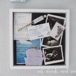 Easy way to display baby keepsakes (or any keepsakes!)