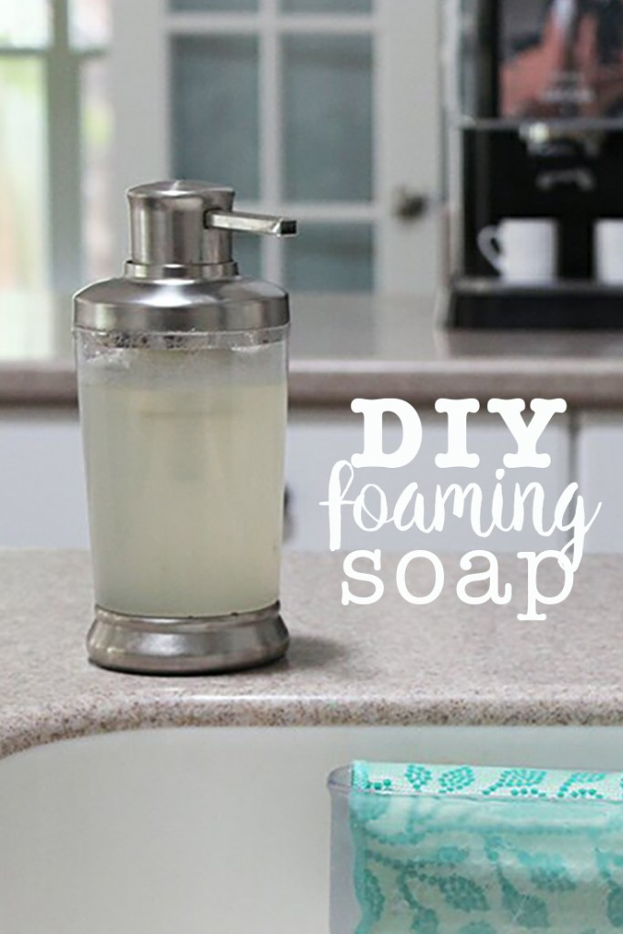 Make your own foaming hand soap or foam dish soap